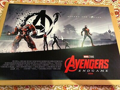 2 X Avengers End Game Limited Edition Exclusive Odeon A3 Posters- New - Free P&P