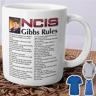 NCIS Gibbs Rules NCIS Christmas Gift White 11 oz. Coffee Tea Mug for NCIS Fans