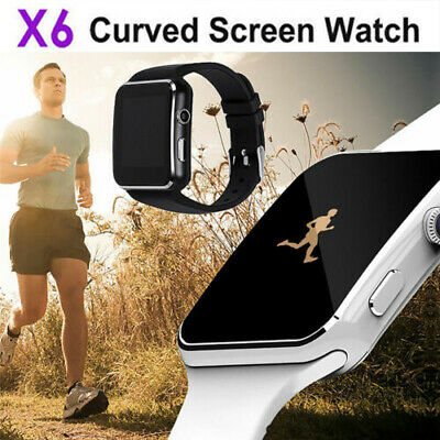Waterproof X6 Smart Watch Bluetooth SIM Phone Camera For Android/iOS Black/White