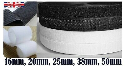 Black or White 16mm 20mm 25mm 38mm 50mm Sew On Rolls Hook and Loop Tape