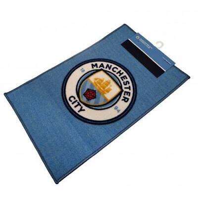 Manchester City FC Official Crested Bedroom Rug / Mat Size 80cm x 50cm Gift