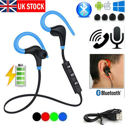 UK Bluetooth Wireless Headphones Sporting Running Earphones Water-Resistant New