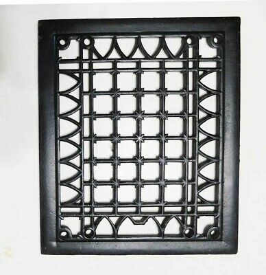 "Antique Victorian Cast Iron Floor or Wall Vent Cover- Restored 11 1/2"" x 9 3/4"""