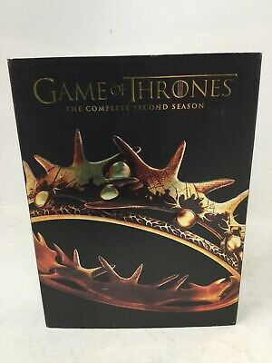 Game of Thrones: The Complete Second Season (DVD, 5-Disc Set) EUC HBO Five kings