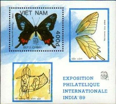 N.Vietnam MNH Sc 1931 S/S Mi Bk 67 Value US $ 4.75 Butterfly