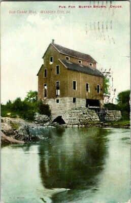 1907. Old Chase Mill, Webster City, Iowa. Postcard Upa12