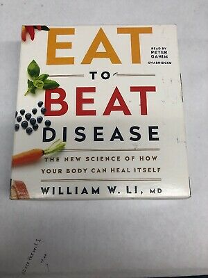 Eat to Beat Disease by William W. Li (English) Compact Disc Book Free Shipping!