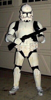 USED STAR WARS Clone Trooper Costume Armor Life Size Movie