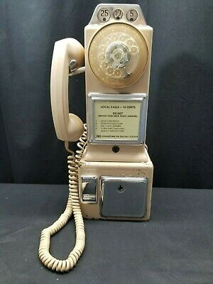 Vintage 50's-60's GTE Automatic Electric 3 Slot Pay Phone, Works on Home Line