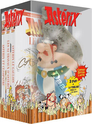 Asterix Collection includes Obelix figurine NEW PAL 3-DVD Boxset