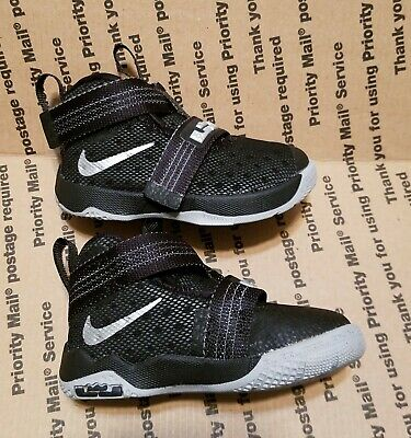 best loved aa78b 4e9ff Nike Lebron Soldier 10 Boys Girls Kids Toddler Running Sneakers Shoes Size  5c