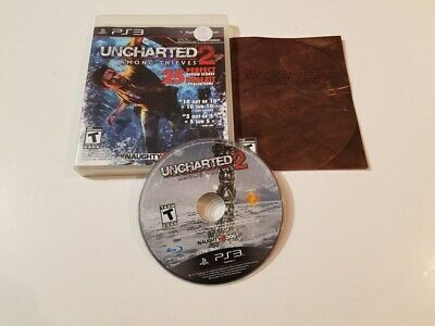 Uncharted 2: Among Thieves (Sony PlayStation 3, 2009) PS3 Tested Complete