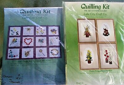 DOUBLE Quilling Kits Sampler Kit #244 GiftTags & #215 Blossoms Lake City Craft