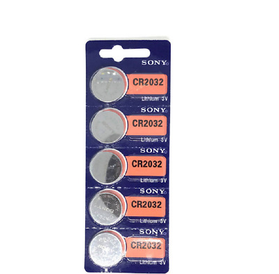 5pcs Brand new Sony CR2032 CR 2032 3V Button Coin Cell Battery xEXP2028