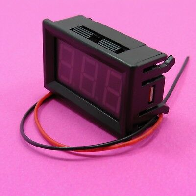 7-150V DC Two Wire LED Display 0.56' Voltmeter with Panel Different Color
