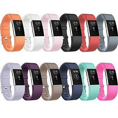 Fitbit Charge 2 Band Replacement Silicone Band Wristband Watch Strap Bracelet