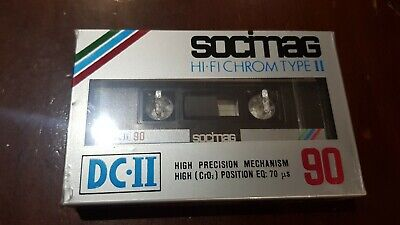 Socimag DC-II IEC II/Type 2 blank cassette NEW AND SEALED x 5
