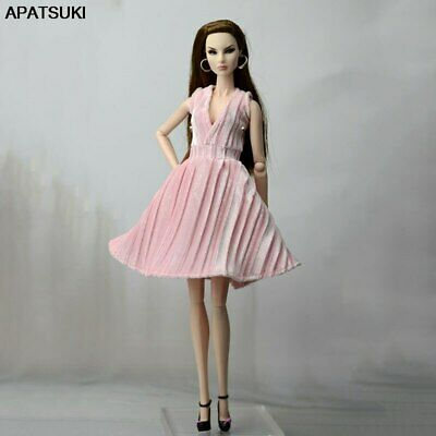 "Pink Pretty Dress For 11.5"" 1/6 Doll Outfits Fashion Doll Clothes Party Dresses"