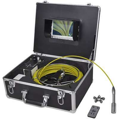 vidaXL Pipe Inspection Camera 98.4' with DVR Control Box Color LCD Monitor✓