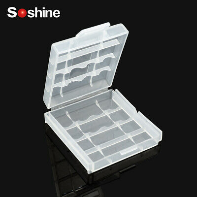 5pcs Soshine 4 Cell 18650 Battery Waterproof Storage Case Battery Holder BoxNEW