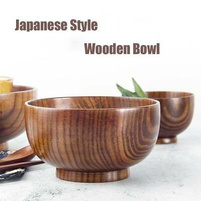 Japanese Style Wooden Bowl Soup/Salad Rice Bowls Natural Wood Tableware Adorable