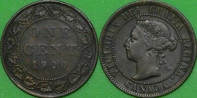 1900 Canada Large Penny Graded as Very Fine