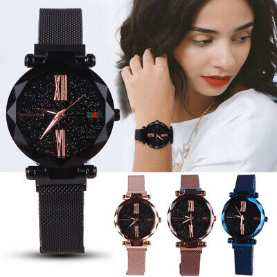 Watch Starry Sky Wrist Women Bracelet Watches Magnetic Stainless Wristwatches