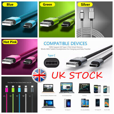 Braided Type C USB C 3.1 Data Sync Charging Cable Lead Speedy Charger 0.25-3M