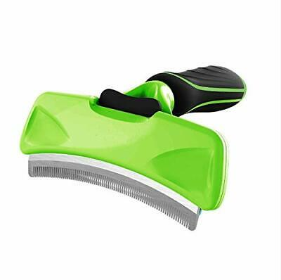 Deshedding Tool for Dogs Cats Curved Comb with Self Cleaning Button Pet Brush