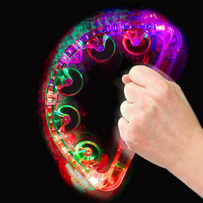 Baby Toy Suitable From Birth Flashing Tambourine Musical Instrument Calming Toy