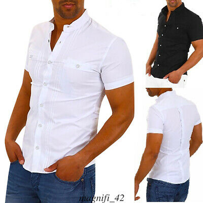UK STOCK Mens Casual Tops Blouse Slim Fit V Neck Short Sleeve Muscle Tee T-shirt