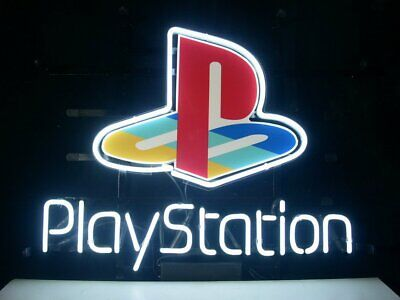 """New PlayStation Neon Light Sign 14""""x10"""" Beer Cave Gift Real Glass Handmade"""