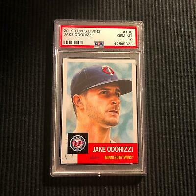 2018 Topps Living Set #138 Jake Odorizzi *Psa 10 Gem Mint*  Minnesota Twins