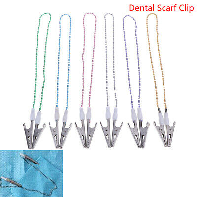 Dental Bib Clip Scarf Clip Napkin Holders Dental Aprons Pad Bib Clip Beads Clip