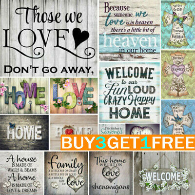 UK Full Drill Family Love Letter 5D Diamond Painting DIY Cross Stitch Room Deco