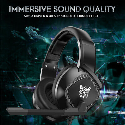 ONIKUMA K19 Stereo Bass Surround Gaming Headset for PS4 Pro Xbox One PC Mic