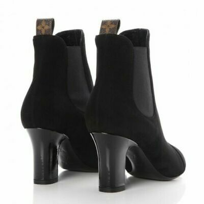 683ce45377f LOUIS VUITTON NWOB Booties Boots Shoes Ankle Suede Black Size 37 US 7 Italy