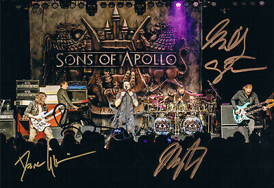 """Sons of Apollo genuine autographs signed 8""""x12"""" photo metal supergroup"""