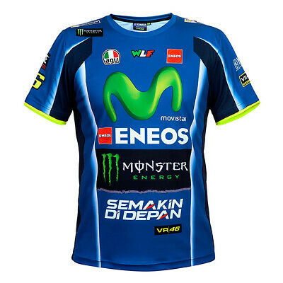 2018 VR46 Valentino Rossi #46 MotoGP Mens Team T-Shirt TEE Yamaha Factory Racing