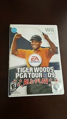 Tiger Woods PGA Tour 09 All-Play Excellent condition with manual.