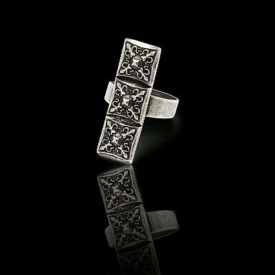 Lucina STERLING SILVER Plated Handmade Ring NOT CHINESE