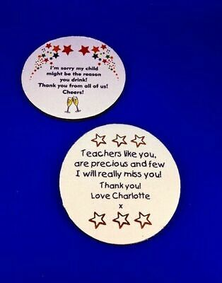 Personalised Teacher Thank you Gifts School Nursery Leaving Present Coaster