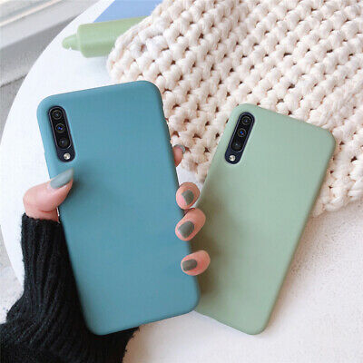 Frosted Silicone Case For Samsung Galaxy A70 A50 40 A30 Slim Soft TPU Back Cover