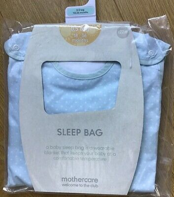 🚗 Mothercare On The Road 18-36 Months 0.5 Tog Snoozie Sleep / Sleeping Bag 🚙