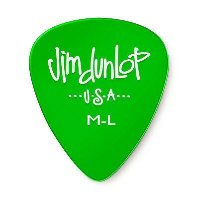 Pack of 12 - Jim Dunlop Standard Gel Medium-Light Guitar Picks M-L