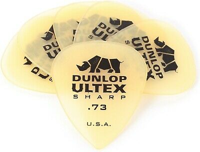 Pack of 6 - Jim Dunlop Ultex Sharp Guitar Picks 0.73mm