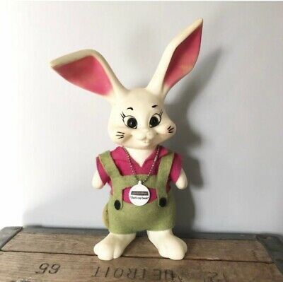 Vintage 1968 Roy Des Plastic Bunny Bank Manufacturers Bank Collectible Kitsch