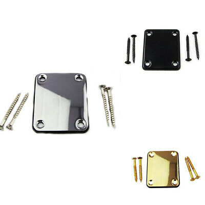 Fender Chrome Neck Joint Plate&4Screws  Electric/Bass Guitar Strat Tele Useful