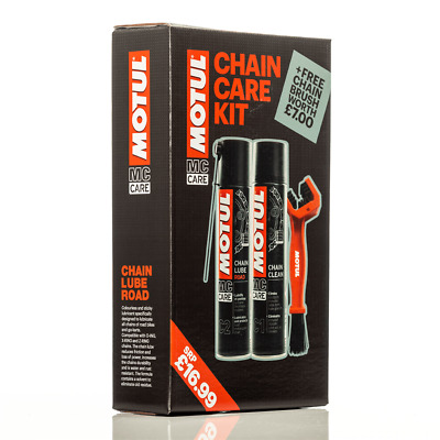 Motul Chain Care Kit Cleaner Cleaning Lube Motorbike Motorcycle Bike