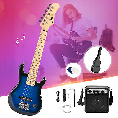 Beginner 30'' Electric Guitar Starter Kit with 5W Amp, Case and Accessories Pack